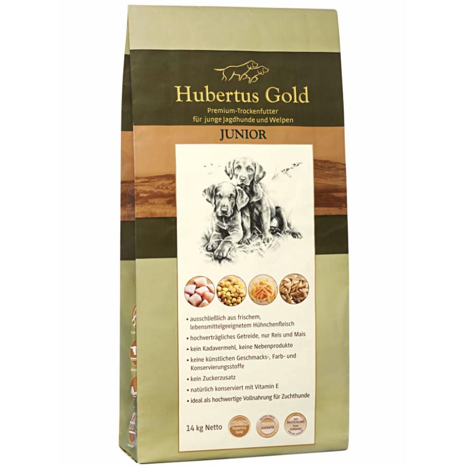 HUBERTUS GOLD Hundefutter Junior Premium Trockenvollkost 14 kg