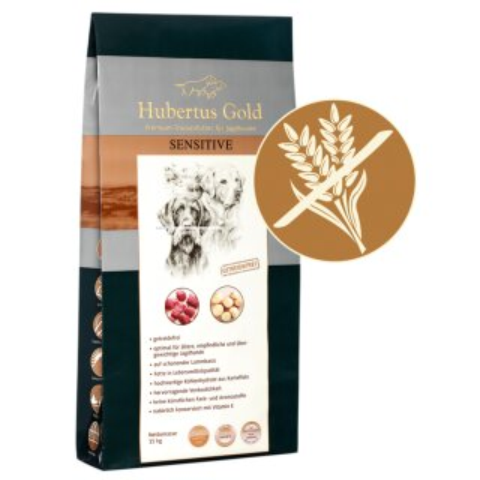 HUBERTUS GOLD Hundefutter Sensitive Premium Trockenvollkost 15 kg