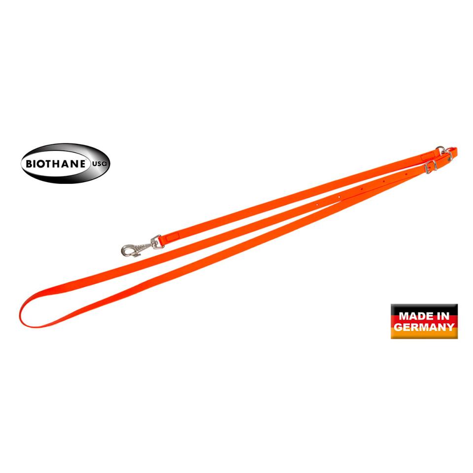BIOTHANE Umhängeleine Orange 164cm