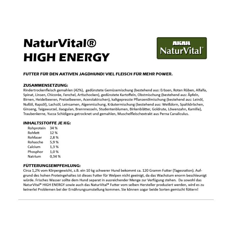 AKAH - NaturVital® High Energy Hundefutter 12 kg