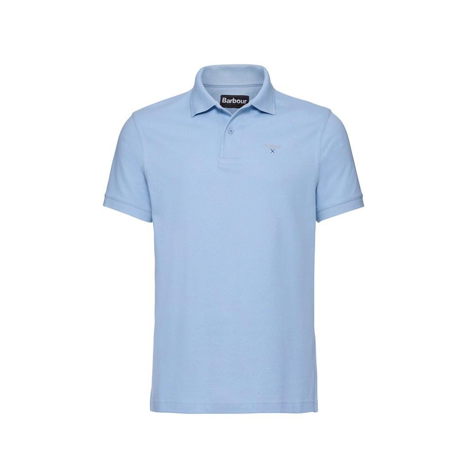 BARBOUR Sports Polo Sky Blue