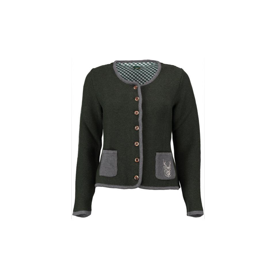 OS- Trachten Damen Strickjacke dunkelgrün