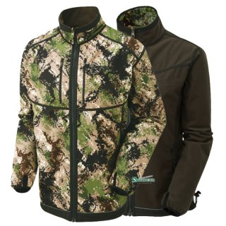 SHOOTERKING Digitex Softshell 2 in 1 Wendejacke Grün Braun