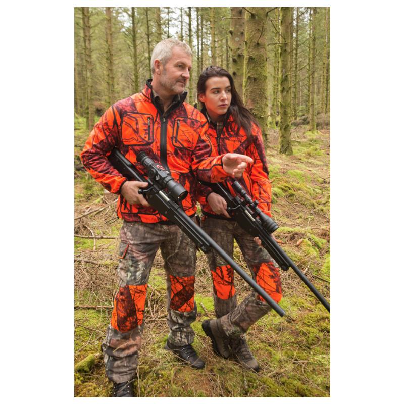 SHOOTERKING Softshell Herren Jacke 2 in 1 Mossy Blaze Orange