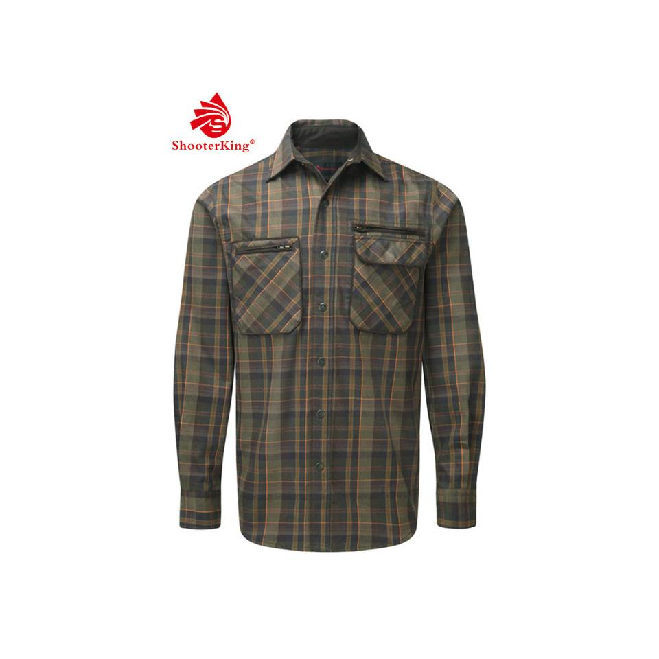 SHOOTERKING Greenland Shirt Langarm Hemd Grün