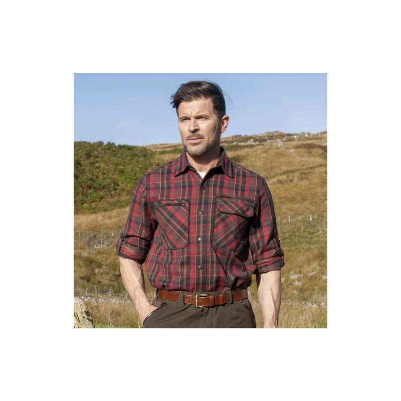 SHOOTERKING Greenland Shirt Langarm Hemd Rot
