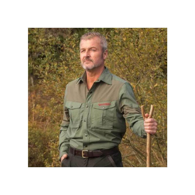 SHOOTERKING Bamboo Anti Zecken Langarm Hemd Grün