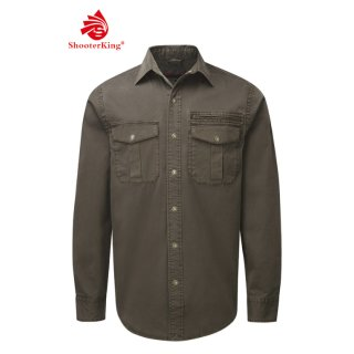 SHOOTERKING Forest Shirt Strech Hemd Braun