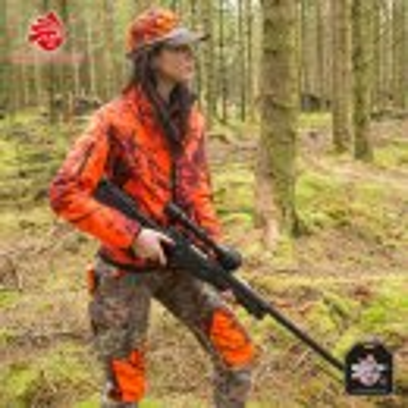 SHOOTERKING Softshell Damen Jacke 2 in 1 Mossy Blaze Orange