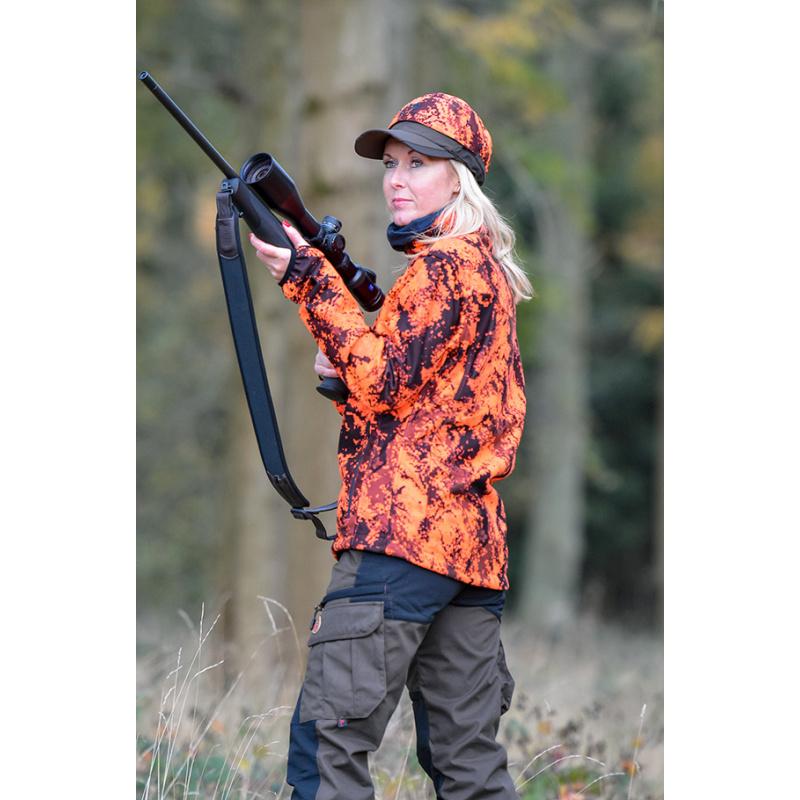 SHOOTERKING Digitex Softshell Damen Blaze Orange Braun