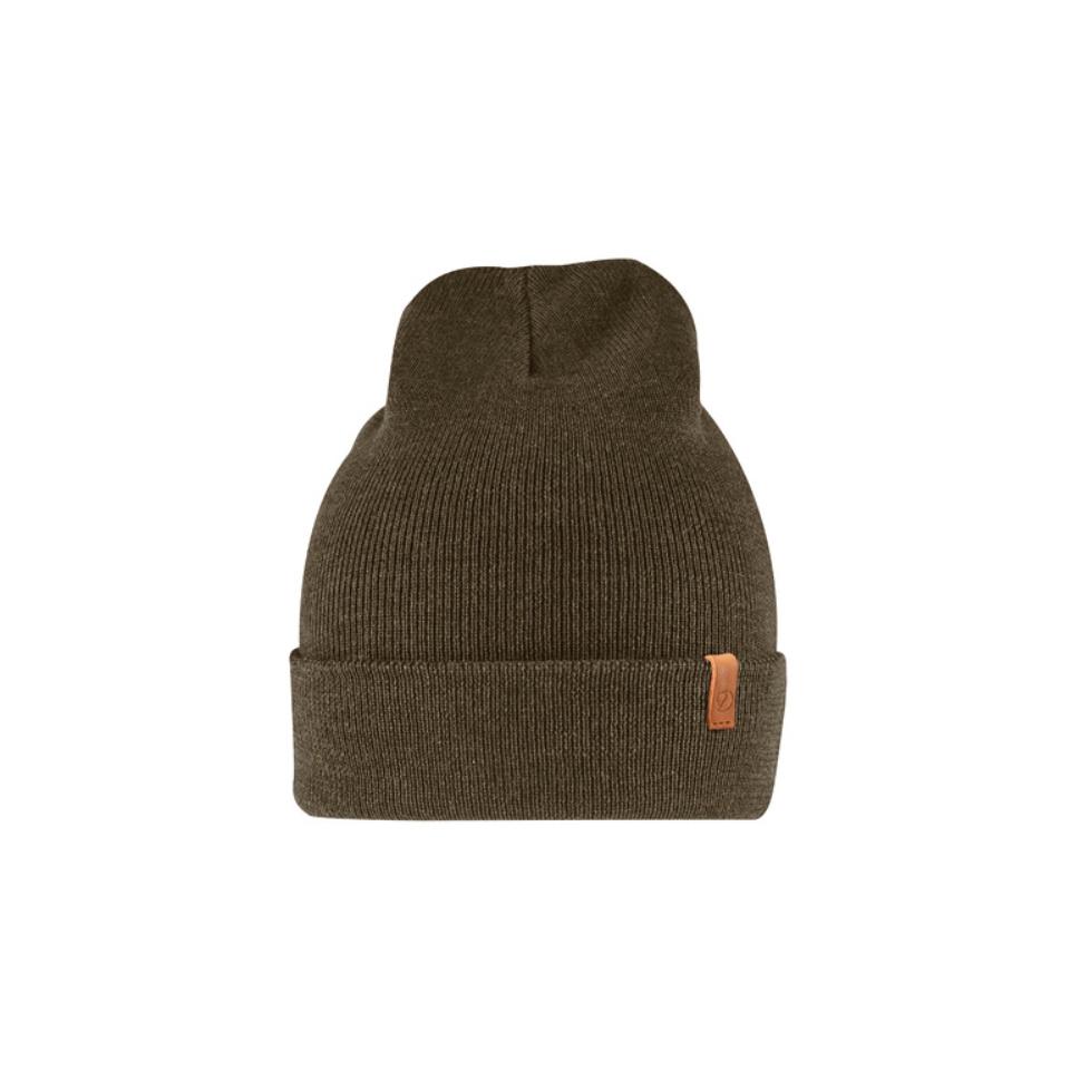 FJÄLLRÄVEN Classic Knit Hat Mütze Dark Olive