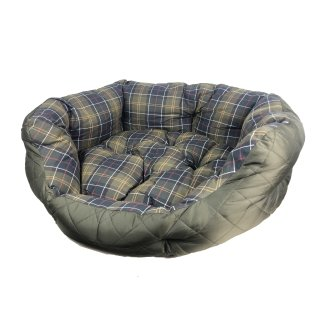 BARBOUR Quilted Dog Bed 30 Hundebett klein Olive Check