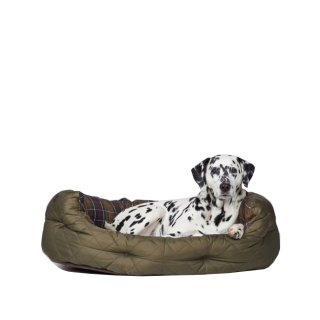 BARBOUR Quilted Dog Bed 35 Hundebett groß olive check