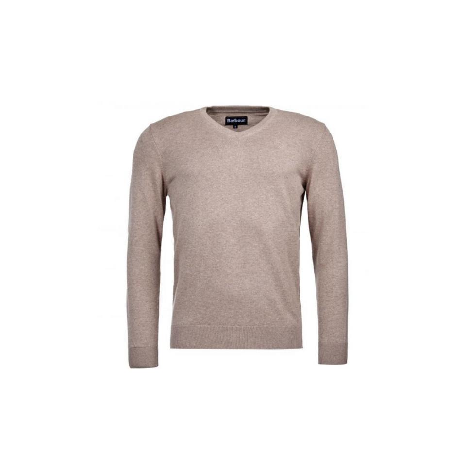BARBOUR Pima Cotton V-Neck Pullover
