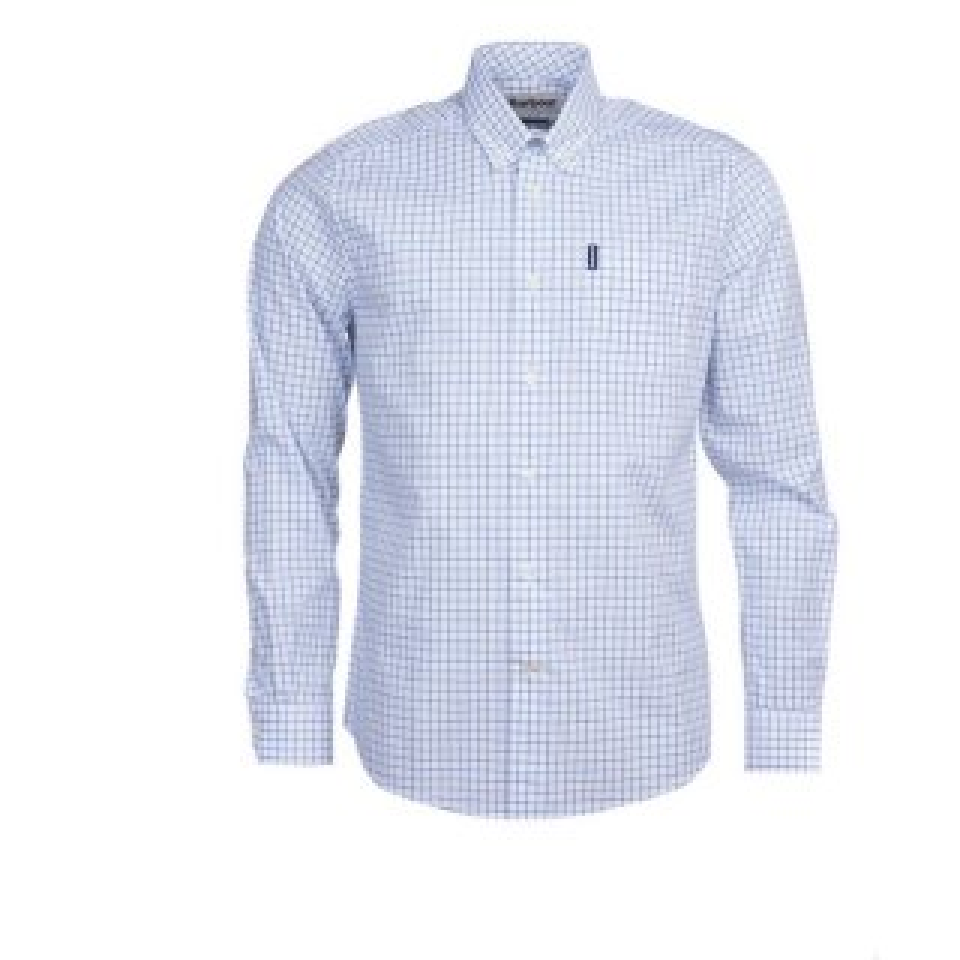 BARBOUR Stapleton Tattersall Hemd Blue