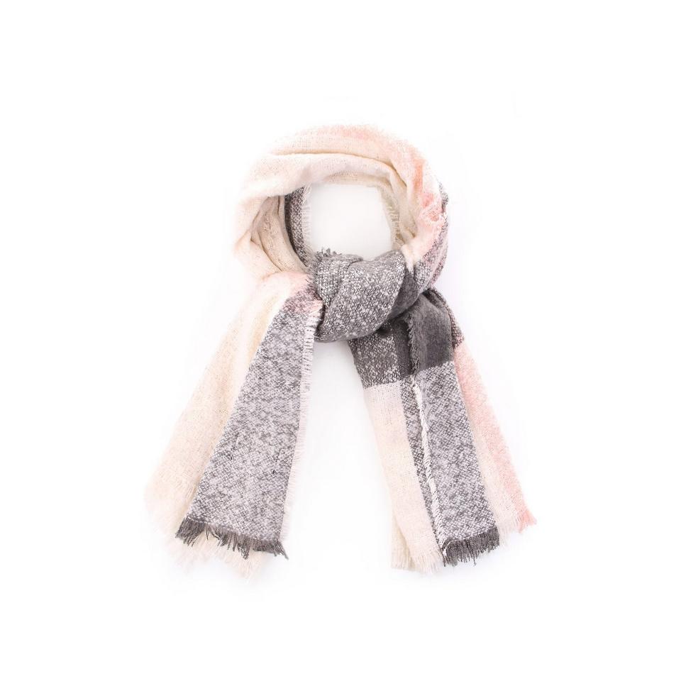 BARBOUR Plaid Boucle Wrap Schal