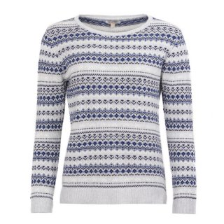 BARBOUR Roseberry Knit Pale Grey Marl Pullover
