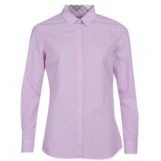 BARBOUR Dorset Shirt Pink White 38/12