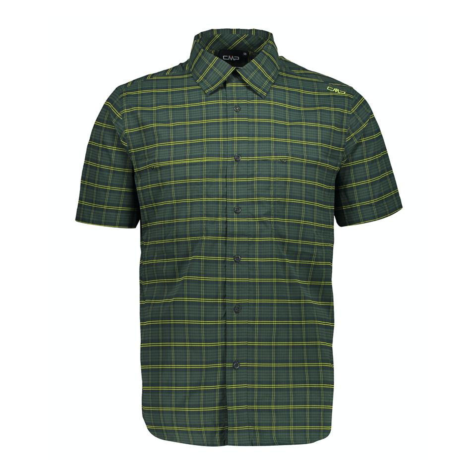CMP Man Shirt Grün Karo