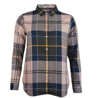 BARBOUR Homeswood Bluse Olive Check