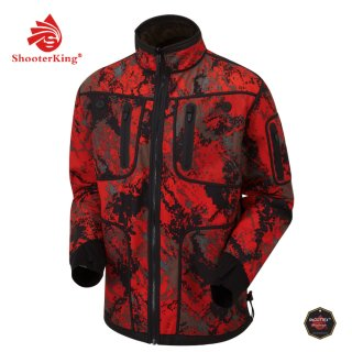 SHOOTERKING Softshell Jacke Forest Mist Red