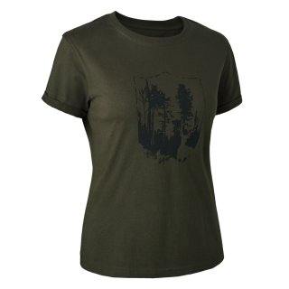 DEERHUNTER Lady T-Shirt mit Deerhunter Shield-Logo